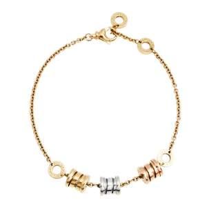 Bvlgari B.Zero1 18K Three Tone Gold Station Bracelet