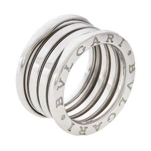 Bvlgari B.Zero1 18K White Gold 4- Band Ring Size 50