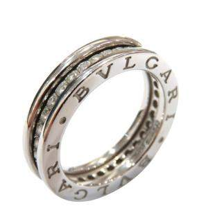 Bvlgari B.Zero11-Band 18K White Gold Diamond Ring EU 49