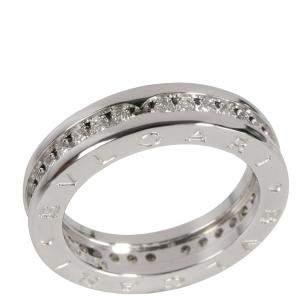 Bvlgari B.Zero1 18K White Gold Diamond Ring EU 51