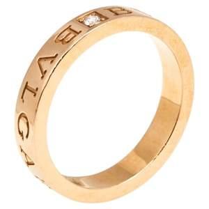 Bvlgari Diamond 18K Rose Gold Band Ring 60