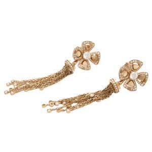 Bvlgari Fiorever 18K Rose Gold Diamond Earrings