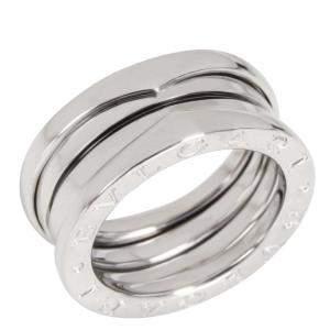 Bvlgari B.Zero1 18K White Gold Ring EU 49