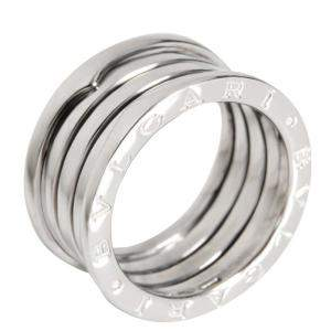 Bvlgari B.Zero1 4-Band 18K White Gold Ring EU 57