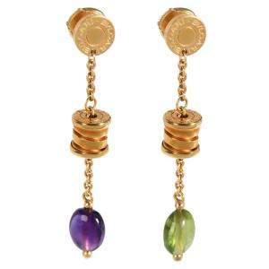 Bvlgari Allegra Gemstone 18K Yellow Gold Earrings