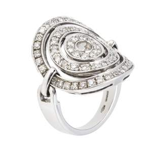 Bvlgari Astrale Cerchi Diamond 18K White Gold Ring Size 52
