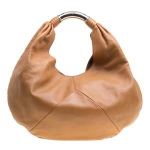 Bvlgari Brown Leather Hobo