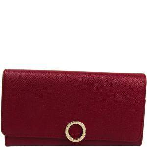 Bvlgari Red Grain Calf Leather Bvlgari Bvlgari Wallet