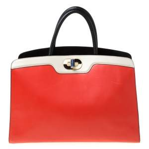 Bvlgari Multicolor Leather Large Isabella Rossellini Tote
