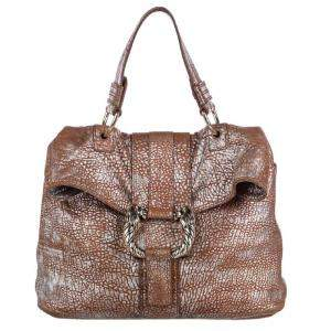 Bvlgari Brown Metallic Leather Leoni Bag