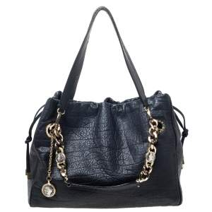 Bvlgari Black Leather Monete Tote