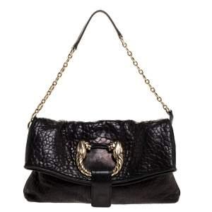 Bvlgari Black Leather Small Leoni Shoulder Bag