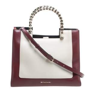 Bvlgari Tricolor Leather Serpenti Scaglie Tote