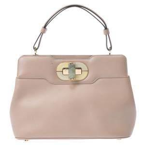 Bvlgari Beige Leather Isabella Rossellini Bag