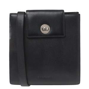 Bvlgari Black Leather Accordion Shoulder Bag