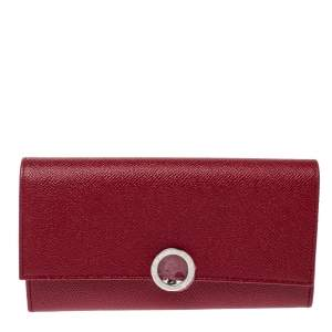 Bvlgari Red Leather Bvlgari Bvlgari Continental Wallet