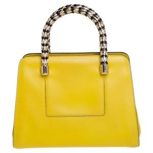 Bvlgari Yellow Leather Scaglie Serpenti Satchel