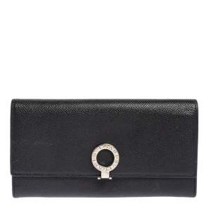 Bvlgari Black Leather Bvlgari Bvlgari Continental Wallet