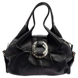 حقيبة هوبو بلغاري شاندرا جلد أسود