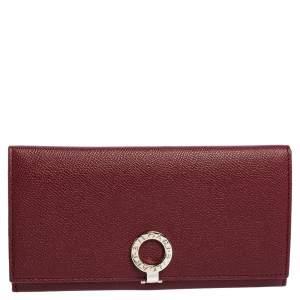 Bvlgari Ruby Wine Leather Bvlgari Bvlgari Continental Wallet