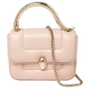 Bvlagri x Mary Katrantzou Pink Leather Top Handle Bag