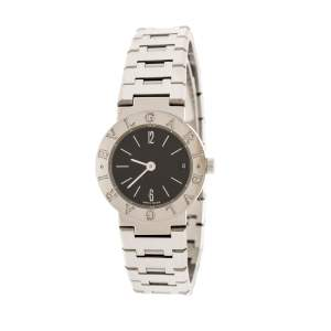 Bvlgari Black Stainless Steel Bvlgari BB23SSD Women's Wristwatch 23 mm