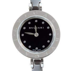 Bvlgari Black Ceramic Stainless Steel B.zero1 BZ23SC Women's Wristwatch 23MM