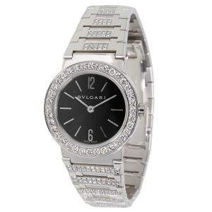 Bvlgari Black Diamonds 18K White Gold Bvlgari Quartz BBW26BGDGD Women's Wristwatch 26 MM