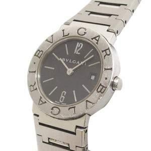 Bvlgari Black Stainless Steel Diagono Women's Wristwatch 29 MM