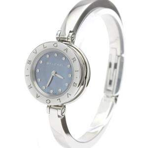 Bvlgari Blue MOP Diamonds Stainless Steel B-Zero1 Quartz BZ23S Women's Wristwatch 23 MM