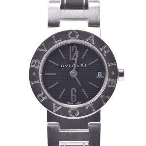 Bvlgari Black Stainless Steel Bvlgari BB23SS Quartz Women's Wristwatch 23 MM