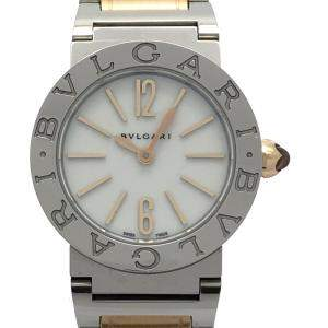 Bvlgari White Rose Gold Plated Stainless Steel Bvlgari BB26SPG Women's Wristwatch 26 MM