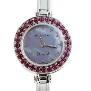 Bvlgari Blue MOP Stainless Steel B.Zero1 BZ22S Women's Wristwatch 22 MM