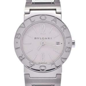 Bvlgari White Stainless Steel Bvlgari BB26SS Women's Wristwatch 26 MM