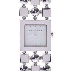 Bvlgari MOP 18K White Gold Lucia LUW16G Women's Wristwatch 15 x 15 MM
