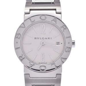 Bvlgari White Stainless Steel Bvlgari BB26SS Quartz Women's Wristwatch 26 MM