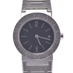ساعة يد نسائية بلغاري ستانلس ستيل بلغاري بلغاري Bb26Ss ستانلس ستيل سوداء 26مم