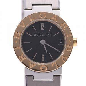 Bvlgari Black 18K Yellow Gold and Stainless Steel Bvlgari Bvlgari BB23SG Women's Wristwatch 23MM