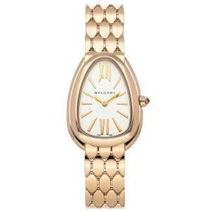 Bvlgari Silver 18K Rose Gold Serpenti Seduttori 103145 Women's Wristwatch 33 MM