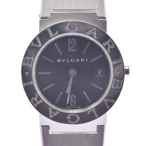 Bvlgari Black Stainless Steel Diagono BB26 Quartz Women's Wristwatch 26 MM