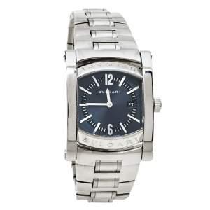 ساعة يد نسائية بلغاري أسيوما AA39S ستانلس ستيل رصاصية 39 مم
