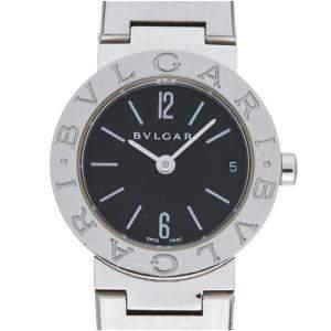 ساعة يد نسائية بلغاري BB23SS  ستانلس ستيل سوداء 23 مم