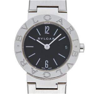 Bvlgari Black Stainless Steel BB23SS Women's Wristwatch 23 MM