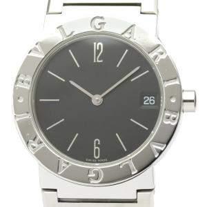 Bvlgari Black Stainless Steel Bvlgari Bvlgari BB30SS Women's Wristwatch 30 MM