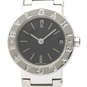 Bvlgari Black Stainless Steel Bvlgari Bvlgari BB23SS Women's Wristwatch 23 MM