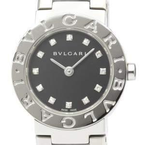 Bvlgari Black Diamonds Stainless Steel Bvlgari Bvlgari BB23SS Quartz Women's Wristwatch 22 MM
