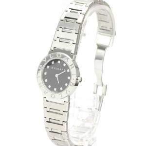 Bvlgari Black Diamonds Stainless Steel Bvlgari BB26SS Women's Wristwatch 26 MM
