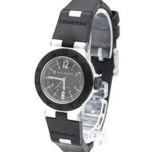 Bvlgari Black Carbon Fiber Aluminum Diagono AL 29 TA Women's Wristwatch 29 MM