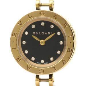 Bvlgari Black Diamonds 18K Rose Gold B.Zero1 BZP23 SG Quartz Women's Wristwatch 23 MM