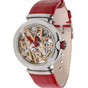 Bvlgari Silver Stainless Steel Lvcea 102879 LU 33 S Women's Wristwatch 33 MM